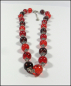 Mobile Preview: Collier aus Crackle-Perlen in Rot - Orange - Braun